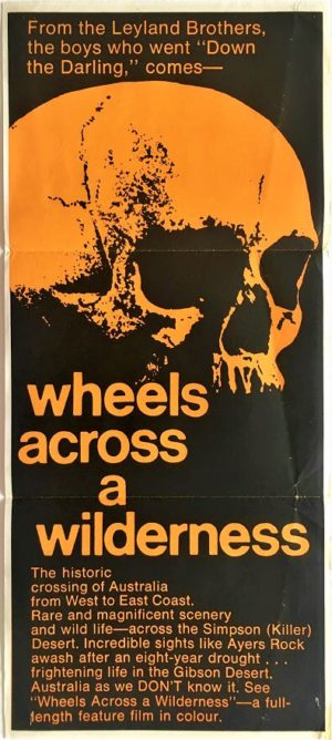 wheels across a wilderness australian daybill poster 1966 (1)