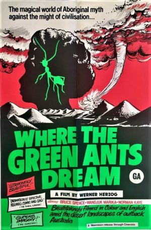 where the green ants dream new zealand one sheet movie poster 1984 (1)