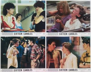 16 candes front of house lobby cards sixteen candles (1)