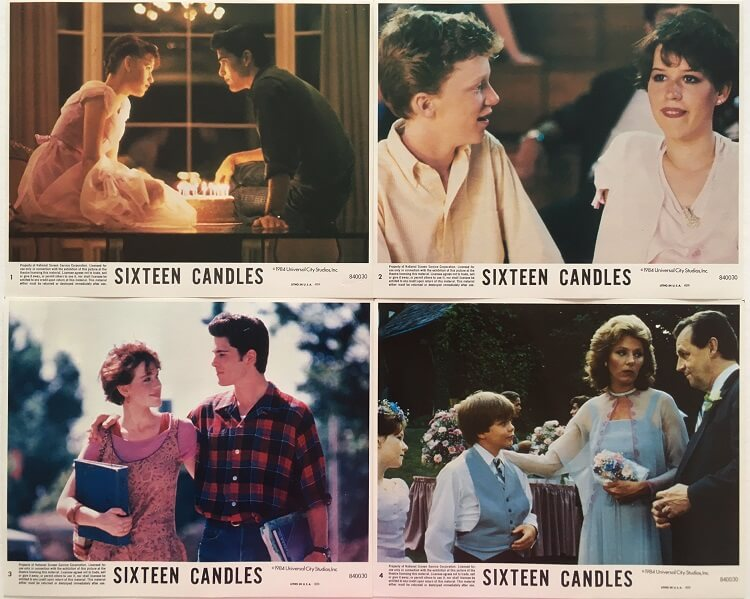 16 candes front of house lobby cards sixteen candles (2)