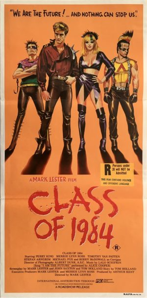 class of 1984 australian daybill movie poster reaturing punk rockers