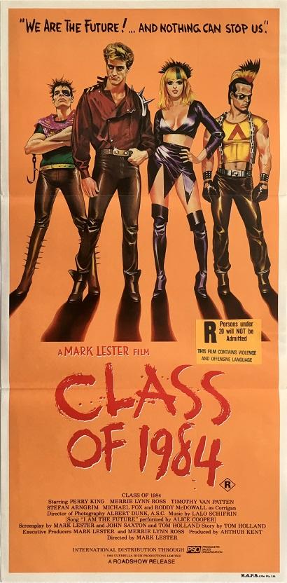 class of 1984 australian daybill movie poster reaturing punk rockers