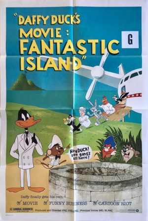daffy ducks movie fantastic islandus one sheet movie poster