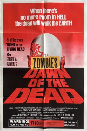 dawn of the dead australian one sheet movie poster new zealand censored with zombie snipe (1) George A. Romero