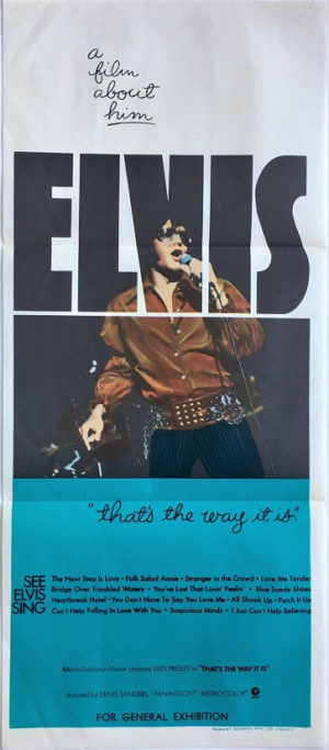 elvis that's the way it is australian daybill poster (1)