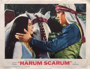 harum scarum elvis presley lobby card 2