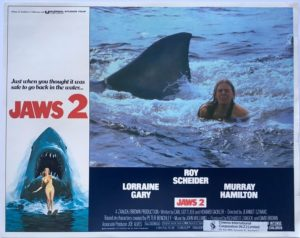 jaws 2 us lobby card