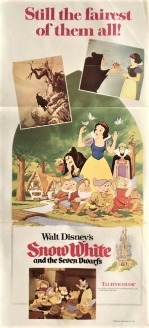 snow white and the seven dwarfs australian daybill poster 1970's re-release