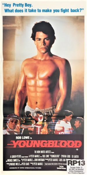 youngblood australian daybill poster rob lowe Patrick Swayze 1986