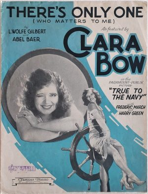 true to the navy 1930 US sheet music featuring Clara Bow (1)