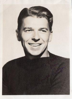 Ronald Reagan original 1940's autographed publicity portrait