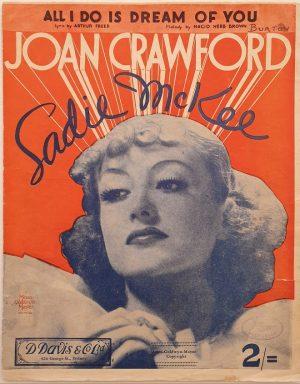 Sadie McKee 1934 australian sheet music staring joan crawford (1)
