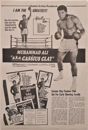muhammad ali aka cassius clay 1970 australian press sheet