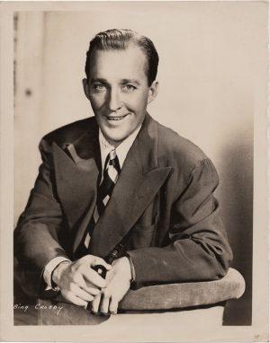 bing crosby original 1940's publicity portrait