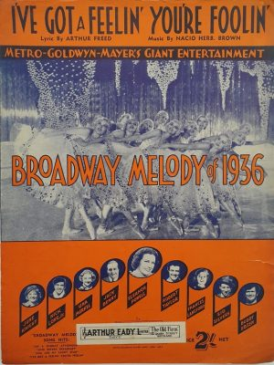 broadway melody of 1936 australian sheet music featuring eleanor powell (2)