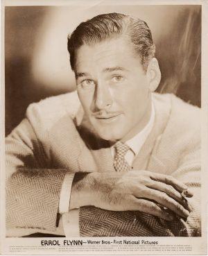 errol flynn original 1940's publicity portrait