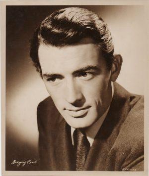 gregory peck original 1940's publicity portrait