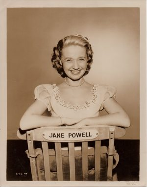 jane powell 1950's publicity portrait