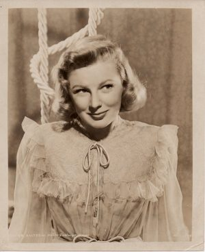 june allyson original 1940's publicity portrait