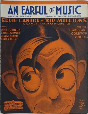 kid millions 1934 1939 australian sheet music staring eddie cantor