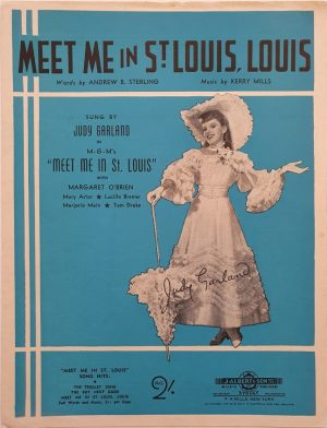 meet me in st.louis 1944 australian sheet music featuring judy garland (1)