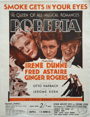 roberta 1935 australian sheet music featuring fred astaire, irene dunne and ginger rogers (4)