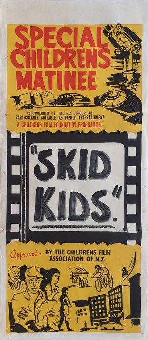 skid kids 1950s New Zealand daybill poster