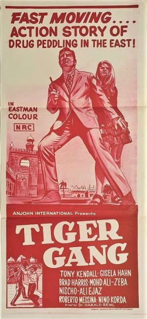Tiger Gang australian daybill poster by Anjohn distribution 1970's also known as FBI Operation Pakistan