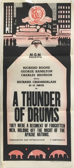 a thunder of drums austalian daybill poster 1960's