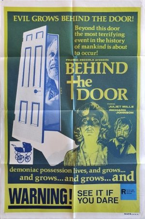 behind the door 1974 australian one sheet movie poster also known as beyond the door