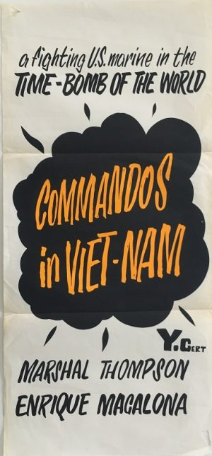 commandos in vietnam NZ daybill poster 1965 released as a yank in vietnam in the united states