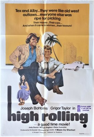 high rolling australian one sheet movie poster 1977