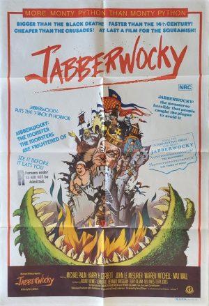 jabberwocky australian one sheet movie poster 1977 monty python comedy