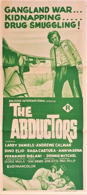 the abductors australian daybill poster by Anjohn distribution 1973 known in greek as Ekviastai