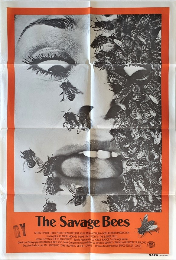 the savage bees 1976 australian one sheet movie poster