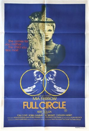 full circle 1977 australian one sheet movie poster featuring Mia Farrow, also known as The Haunting of Julia in the USA