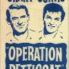 Operation Petticoat 1960's australian re-release duotone daybill poster with cary grant and tony curtis