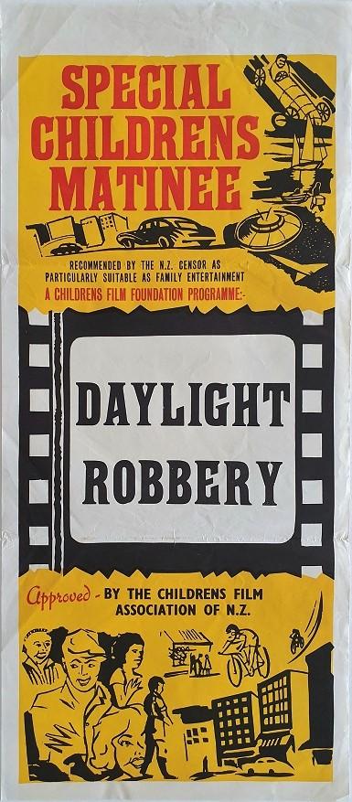 daylight robbery 1964 New Zealand stock daybill poster