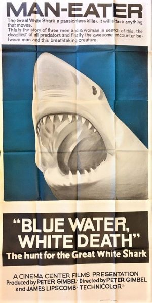 Blue Water White Death great white shark australian 3 sheet movie poster 1971