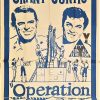 Operation Petticoat 1960's australian re-release duotone 3 sheet poster with cary grant and tony curtis