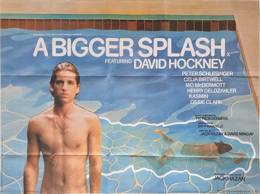 a bigger splash uk quad poster with david hockney