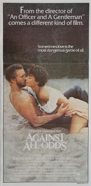 against all odds daybill poster 1984 with jeff bridges