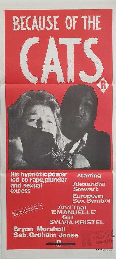 because of the cats australian daybill poster 1973