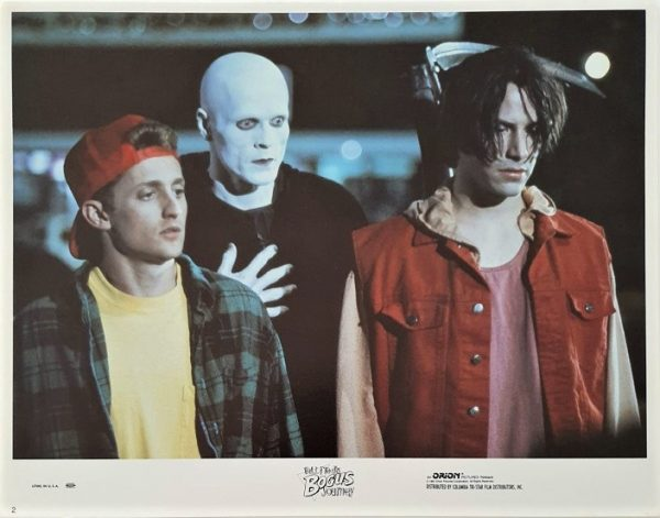 bill & ted's bogus journey lobby cards set x 8 cards