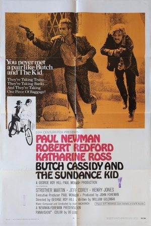 butch cassidy and the sundance kid us one sheet movie poster 1969