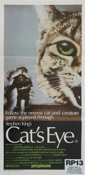 cat's eye daybill poster stephen king 1985