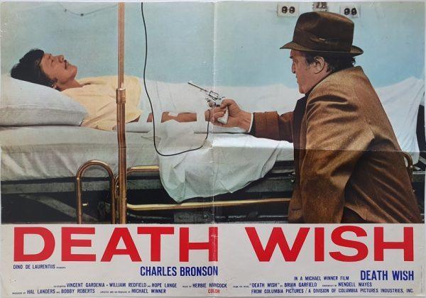 death wish italian Photobusta poster with charles bronson 1974