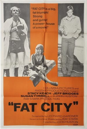 fat city australian one sheet movie poster with jeff bridges 1972