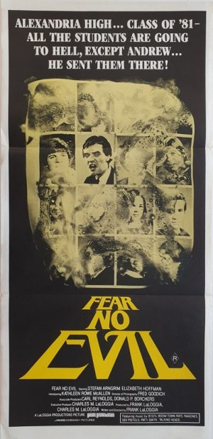 fear no evil daybill poster