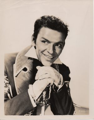 frank sinatra publicity still for the Kissing Bandit 1948